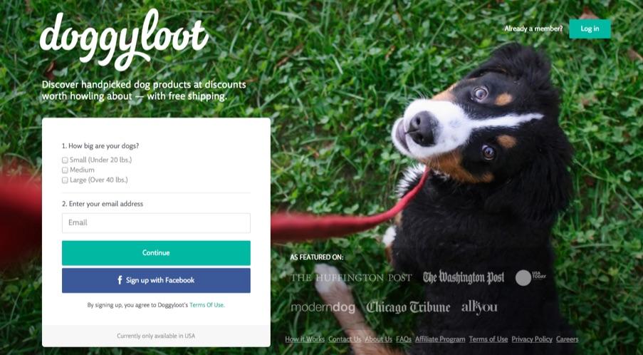Doggyloot-custom-landing-page
