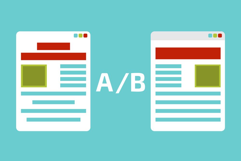 este A/B também se designa por experiência aleatória controlada, experiência online controlada e teste de divisão. Em web design, o teste A/B é utilizado para identificar alterações nas páginas web que podem provocar mudanças positivas ou negativas no interesse dos utilizadores.